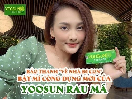 Diễn viên bảo thanh chia sẻ về kem yoosun rau má