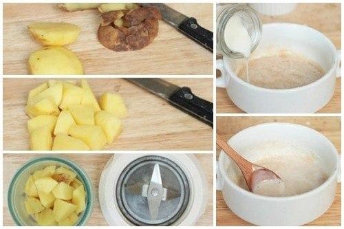 Cách trị thâm mụn bằng khoai tây sữa tươi