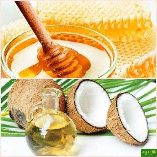 Mẹo trị mụn bằng mật ong và dầu dừa