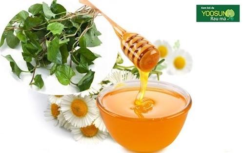 Cách trị mụn bằng rau diếp cá và mật ong