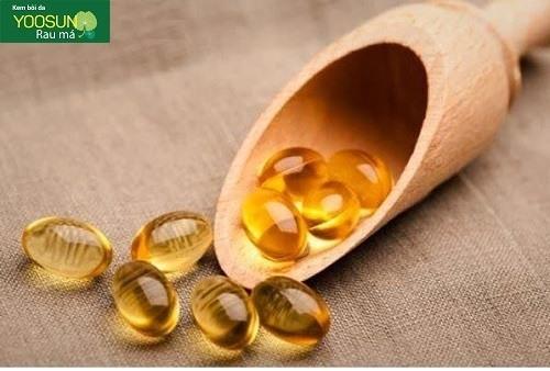 Cách trị mụn thâm đỏ bằng vitamin e