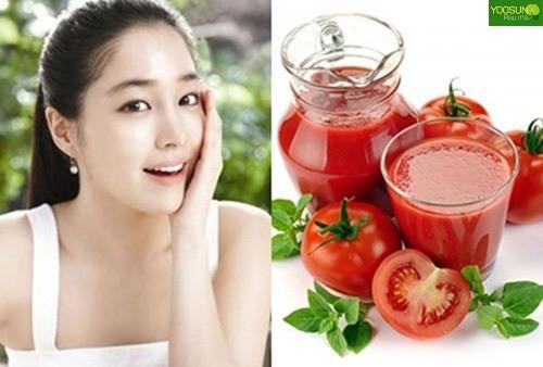 Cách trị thâm mụn bằng cà chua