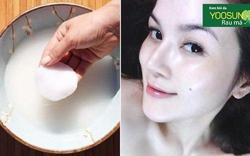 Điều trị thâm mụn bằng nước vo gạo