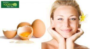 Mặt nạ trứng gà trị mụn đầu đen