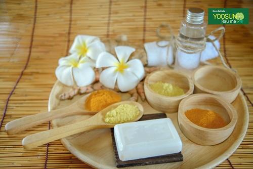 Mẹo trị mụn bằng nghệ và dầu dừa