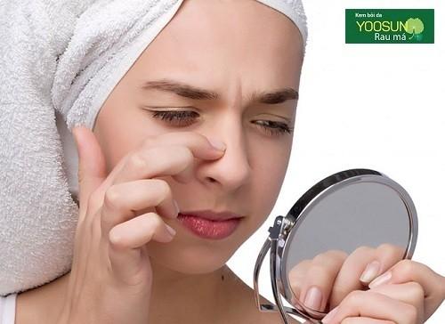 Mụn mọc ở mũi là bệnh gì