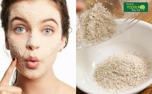 Phương pháp trị mụn đầu đen bằng bột yến mạch