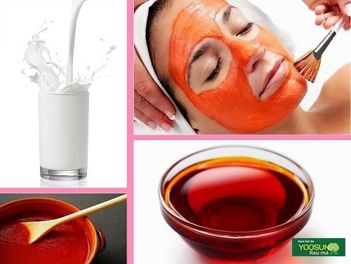 Cách làm mặt nạ dầu gấc sữa tươi
