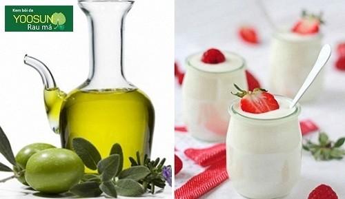 Cách làm mặt nạ dầu oliu sữa chua