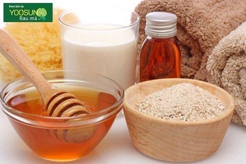 Cách làm mặt nạ yến mạch mật ong trị mụn