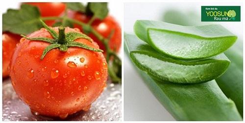 Công dụng mặt nạ cà chua và nha đam