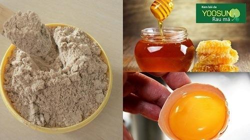 Hướng dẫn đắp mặt nạ cám gạo mật ong trứng gà