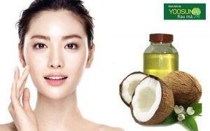 Làm mặt nạ dầu dừa cho da nhờn