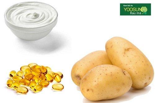Mặt nạ khoai tây sữa chua vitamin e