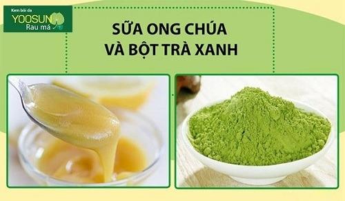 Mặt nạ sữa ong chúa và bột trà xanh