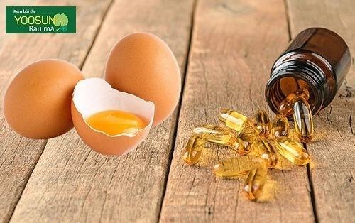 Mặt nạ trứng gà và vitamin e