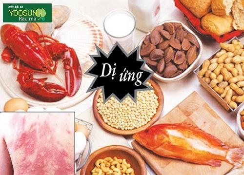 Các loại dị ứng thực phẩm thường gặp