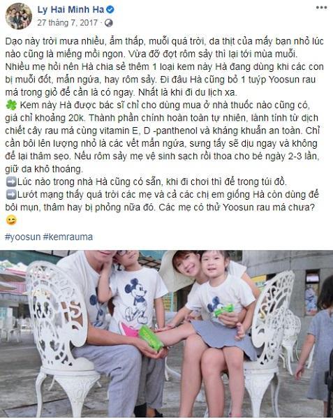Minh Hà phản hồi về kem rau má