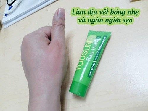Yoosun rau má có trị bỏng không