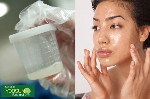 Trẻ hóa làn da bằng mặt nạ tinh trùng
