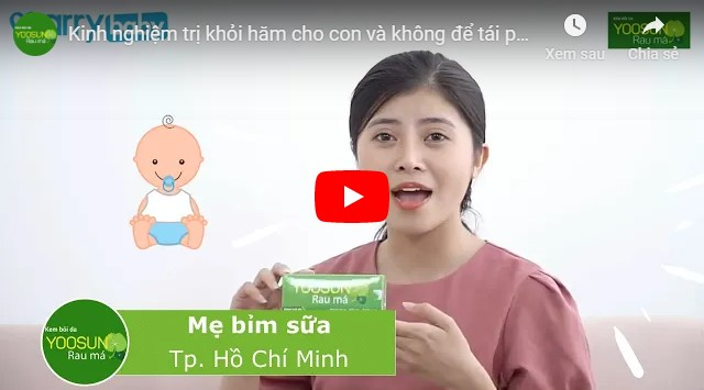 Video cách trị hăm tã cho bé