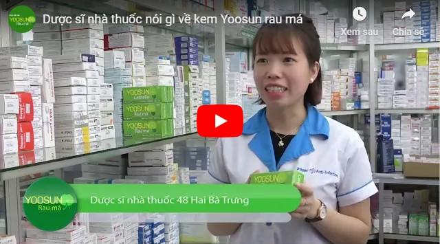 Video dược sĩ nhà thuốc nói về kem Yoosun rau má