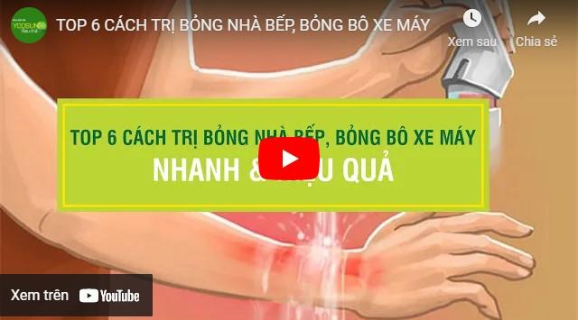 Video cách trị bỏng dầu ăn không để lại sẹo