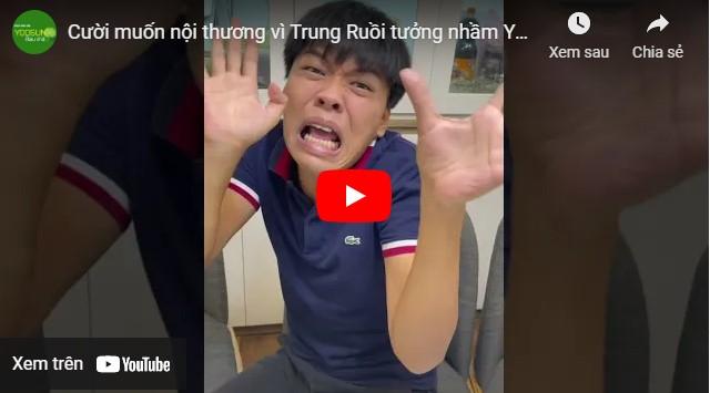 Video trung ruồi chia sẻ về kem yoosun rau má